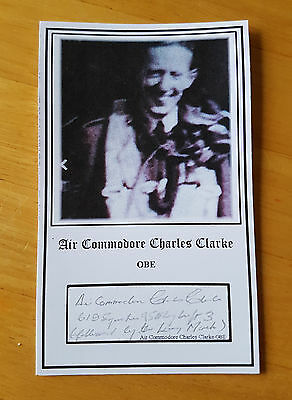 RAF Bomber Command Lancaster pilot A/C Charles Clarke OBE signed