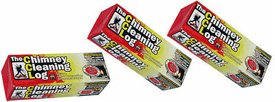 3 x Chimney Cleaning Log Fireplace Stove Soot Creosote Cleaner Eco Flue Sweeper