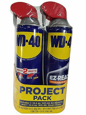 WD-40 Multi-Use Project Pack 14.4oz EZ Reach & 14.4oz Smart Straw 2 Cans