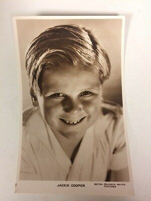POSTCARD - JACKIE COOPER, film movie child actor, real photo RP 30s vintage