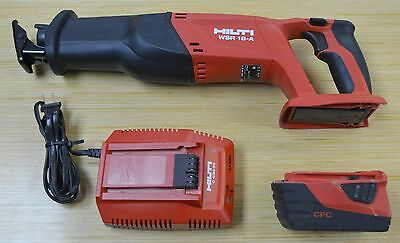 Hilti Wsr 18-A 18V Heavy Duty Cordless Reciprocating Saw W/battery & Charger