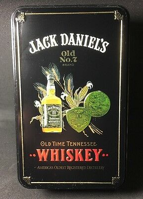 Jack Daniels Tin Whiskey Old 7 No Vintage Tennessee Box Sign Metal Empty  Brand