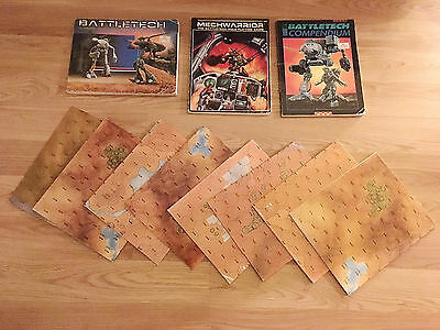 A collection of items including Hex maps and Books ..