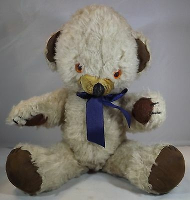 """VINTAGE 1960s MERRYTHOUGHT 15"""" PLUSH CHEEKY TEDDY BEAR WITH BELLS IN EARS"""