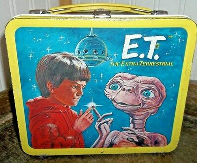 1982 ET Movie Metal Lunch box Alien Phones Home - Stars a Young Drew Barrymore!