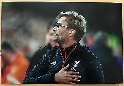 Jurgen Klopp Liverpool Fc Reds Hand Signed 12X8 Photo