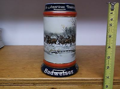 Budweiser 'An American Tradition' 1990Collector Series Stein Excellent Condition
