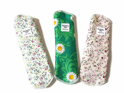 New Bamboo Reusable Cloth Sanitary/Menstrual Pads 3 Pack