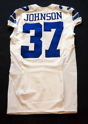 #37 Matt Johnson Authentic Team Issued Dallas Cowboys Nike Jersey