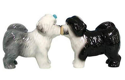 Kissing Old English Sheepdogs Salt and Pepper Shakers