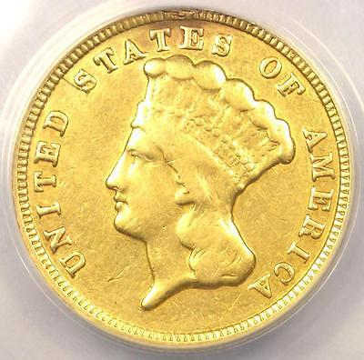 1854 Three Dollar Indian Gold Piece $3 - ANACS VF20 Details - Rare Coin!