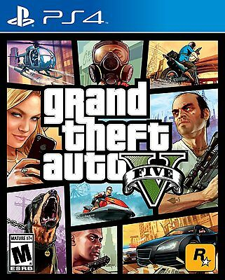 Grand Theft Auto 5 V [PlayStation 4 PS4, GTA Action Driving Shooting] NEW