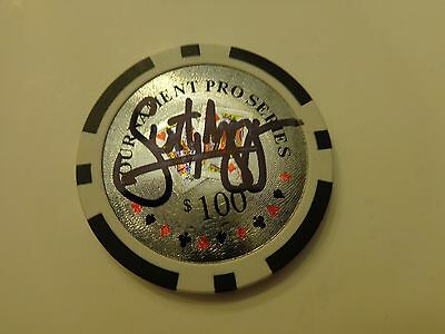 HUMBERTO BRENES World Series of Poker WSOP Signed Autographed POKER CHIP