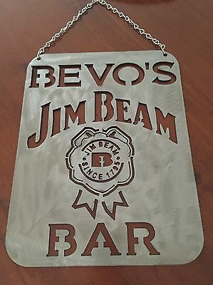 Jim Beam Made To Order Steel Bar Sign