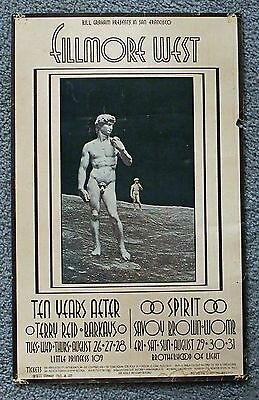 Fillmore West 1969 Ten Years After, Spirit, Savoy Brown original poster BG #189