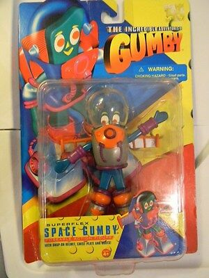 Superflex Space GUMBY -Never removed from Package(Incredible Adventures of Gumby