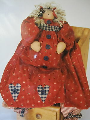""" ANY DAY NOW PREGNANT  "" ..Cloth Doll Pattern....by Katie's Homespun Stitches"