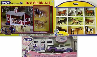 BREYER HORSES Stablemates Red Stable Shadow Box 10 Horses Truck Trailer 1:32 NEW