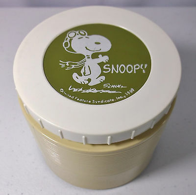 VTG 1969 Snoopy WWI Flying Ace Peanuts 6 oz Soup Thermos #1155 Insulated Jar