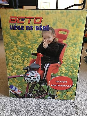 Beto Deluxe - Bike Baby seat with Alloy Bicycle Rack suits 700c