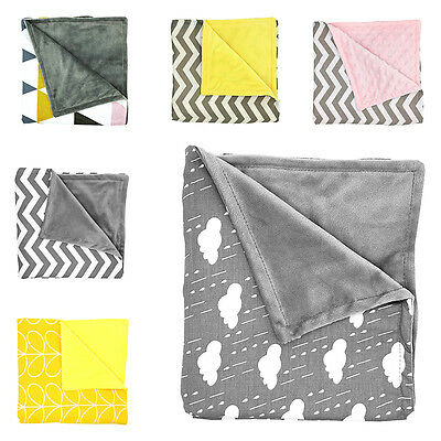 Baby Infant Toddler Stroller Pram Cot Shower Minky Blanket Sleeping Swaddle Wrap