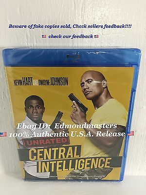 Central Intelligence 2016 (Blu-ray + Digital HD) Brand New Sealed, Ships Fast!!