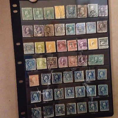 Stamps US, USA, early presidents, grant, franklin, washington, collection to $1