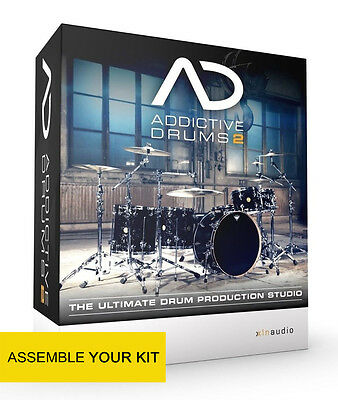 Addictive Drums 2 with 1 ADpak, 1 MIDIpak and 1 Kitpiece of your choice