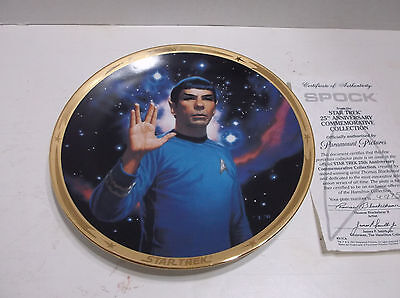 Star Trek:  Collectible Plate:  Spock