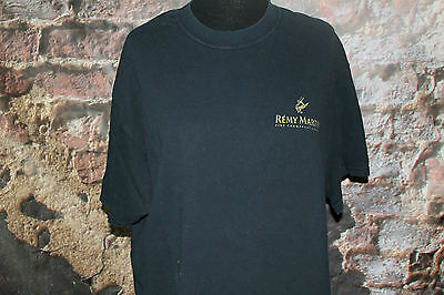 Remy Martin Champagne Cognac Black Cotton T Shirt XL by Jerzees Booze Promo GUC