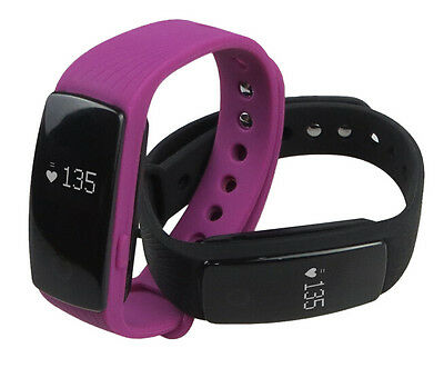 Heart Rate Activity Tracker Touchscreen Fitbit Hr Style Wireless Watch Purple