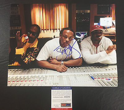 SNOOP DOGG SIGNED IN THE STUDIO WITH DR. DRE & THE GAME 11x14 PHOTO PSA/DNA COA