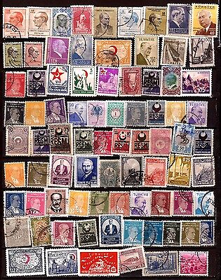 TURQUIE 80T personnages,emblemes,usages courants H226