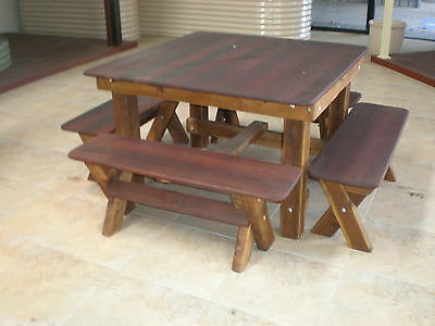 OUTDOOR FURNITURE New Timber Outdoor Setting Seats 8 (orders only)