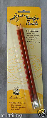 Transfer Pencils - Hot Iron by Aunt Martha's for Colonial Patterns