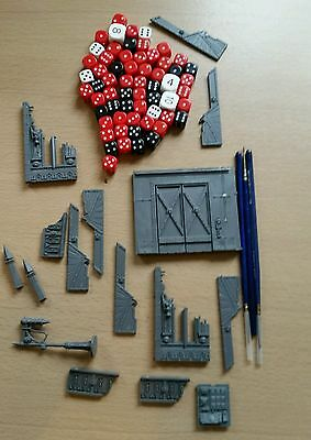 GAMES WORKSHOP - WARHAMMER - dice.brushes and parts