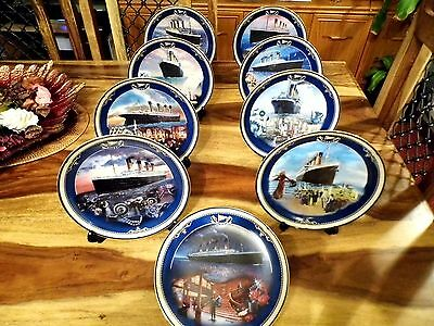 Collectable Titanic Plates by Bradford Exchange Set of 9 Limited Edition