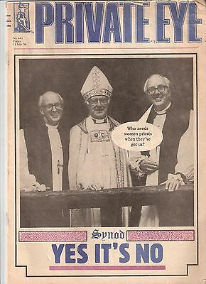 Private Eye Mag # 641 11 July 1986 Archbishop of Canterbury Robert Runcie cover