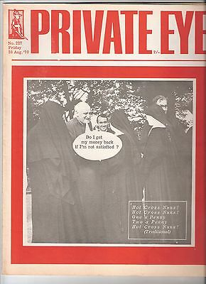 Private Eye Mag # 227 28 August 1970 Archbishop Canterbury Michael Ramsey cover