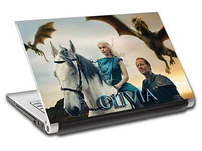 Game Of Thrones Khaleesi Personalized LAPTOP Skin Vinyl Decal Sticker NAME L161