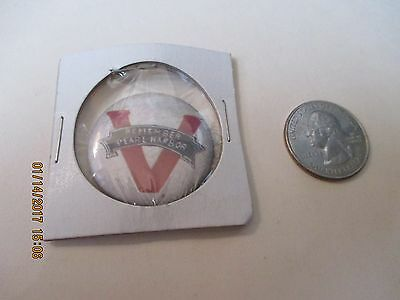 Original Wwii Homefront Remember Pearl Harbor Victory Scroll   Button