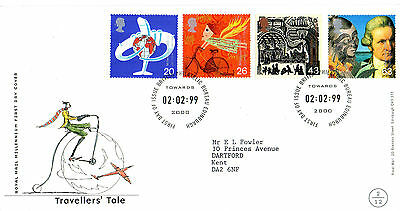 2 February 1999 Travellers Tale Royal Mail First Day Cover Bureau Shs