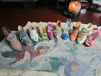 JUST THE RIGHT SHOE by Willitts/Raine,[#9] 10 collector mini shoes