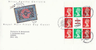 19 March 1991 Agatha Christie Pane Royal Mail First Day Cover Marple Shs