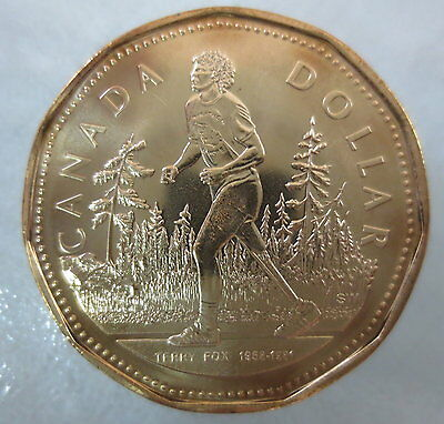 2005 Terry Fox Marathon Of Hope Loonie Uncirculated From Mint Roll