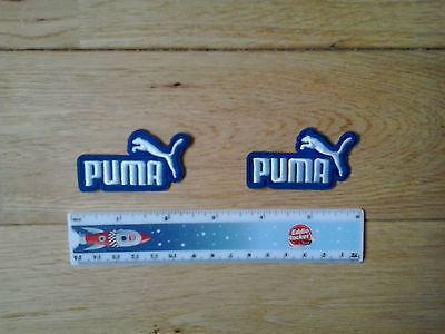 2 x PUMA  Logo Embroidered Iron/Sew-on Badge  NEW