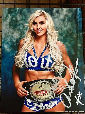 CHARLOTTE FLAIR WWE Womens Champ AUTOGRAPHED 8x10 Photo NXT wrestling SIGNED RAW