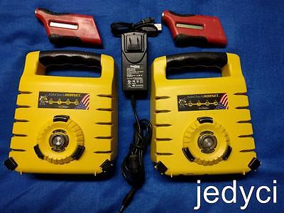 Two Exaktime Jobclock Hornets w/ One Charger ~ Two FastTrakker 301 w/USB Cable