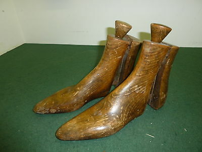 Pair of Adult Wooden Antique Adjustable Size 4-8 Ankle Boot or Shoe Stretchers