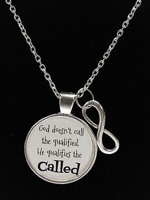 Infinity Inspirational Bible Scripture God Qualifies The Called Necklace